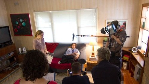 On set, Day 2 of production shoot for Wait Time. Photo by Gareth Carr.