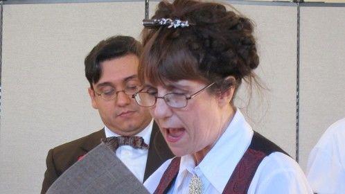 Monica Ballard as Clerk #1 & Jose Villarreal as Mr. Sharp