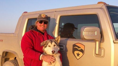 Me and wonder Wolfdog; Da-Aw...on-set with G.I. Joe.
