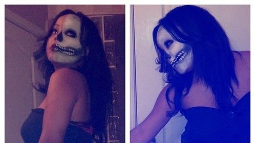 Skeleton Makeup, Yours truly!