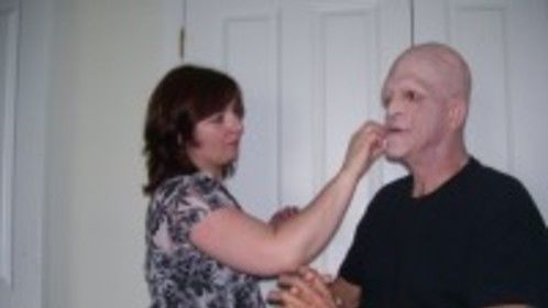 Michael Berryman in Makeup