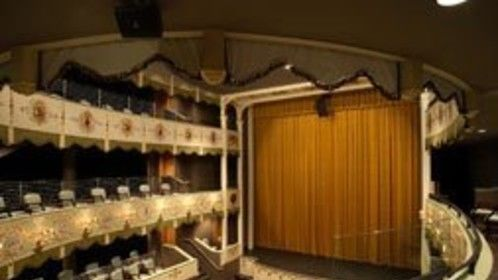 Inside the beautiful Asolo Theatre in Sarasota, FL. This is where we'll stage our show on Emmett Kelly, Sr. in the spring of 2014.