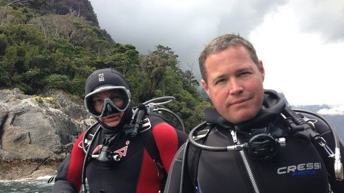 On location in NZ shooting Ocean Mysteries with Jeff Corwin