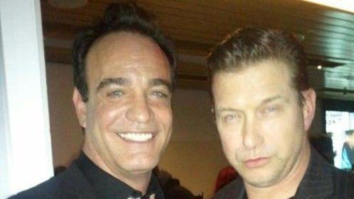 With Stephen Baldwin on set