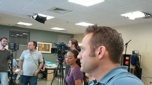 Between takes on TeamSTEPPS Long Term Care