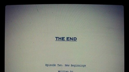 THE END Episode Two: New Beginnings title page