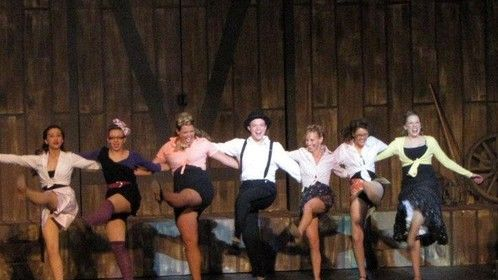 Kick line from White Christmas 2011 (3rd from the right)