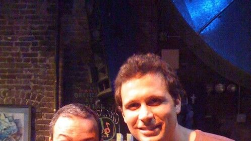 Jeremy Sisto and I at Poets Cafe