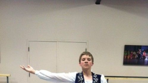 My protege Eamon rehearsing for his first competition.