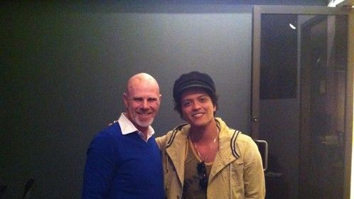 Working with Bruno Mars on his video