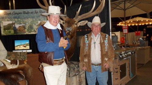 With my author, alias John Wayne, Festival of the West, Scottsdale, AZ