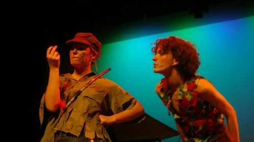 "Playing a boy's role!  ""Slightly"" (Peter Pan's 2IC) Stray Cats Theatre production.at the Mandurah Performing Arts Centre. 2012"