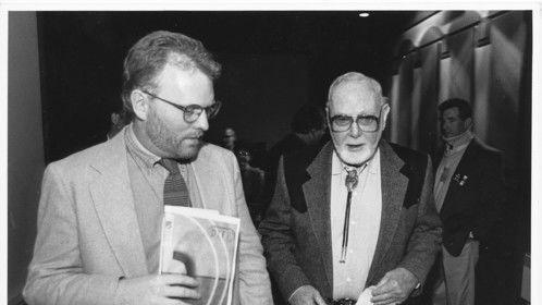 Peter Jones with Harry Carey Jr.