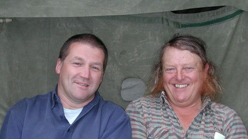 James with Phil Harding