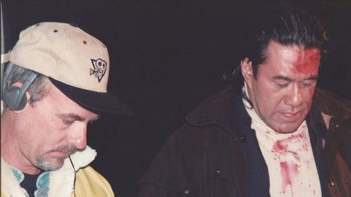 Me and BRANSCOMBE RICHMOND (BOBBY SIXKILLER from RENEGADE) shooting my short film AN EARLY GRAVE.