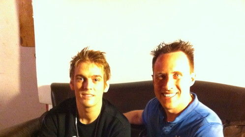 Me and Aaron Carter..Interview session for THECOOLTV  ..JUST MUSIC