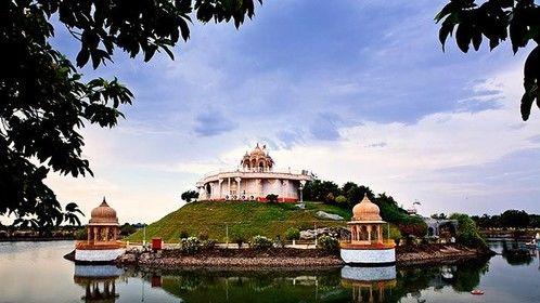 Anandasagar lake, India.