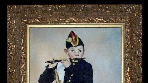The Fifer, oil on canvas, copy of Edouard Manet's original- Le Fifré