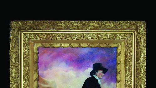 The Skater, oil on canvas, copy of Sir Henry Raeburn's original- The Skating Minister