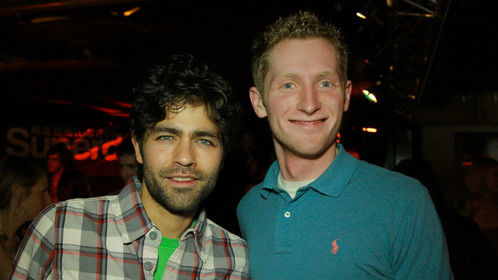 Director Eric McCoy with Adrian Grenier of HBO's Entourage.