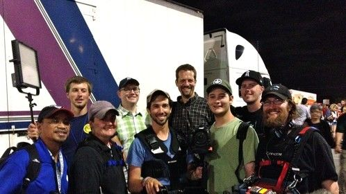 "The production crew for my documentary ""Scouts Honor: Inside a Marching Brotherhood"""