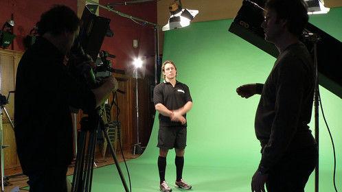 Green screen filming with Jonny Wilkinson