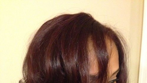 Custom dyed hair extensions