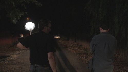 Director Randy Hal walks with Kevin Hayden (Milo) -- Links & Pins