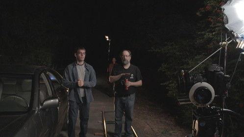 Director Randy Hall walks with Kevin Hayden (Milo) -- Links & Pins