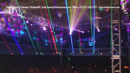 2013 Massive Large Scale Event Lasers and lighting by Tribal Existance Productions Worldwide