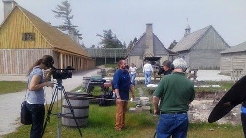 Filming at Colonial Fort Mackinac