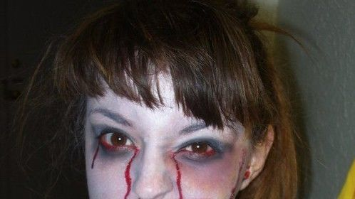 My first attempt at zombie/ gore makeup
