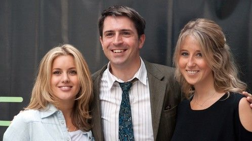 Photo call with Caggie Dunlop and Fawn James
