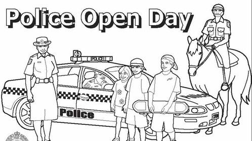 illustration for local police events day