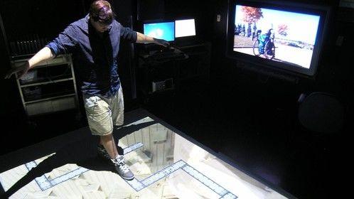 Interactive floor installation for exploring the experience of vertigo