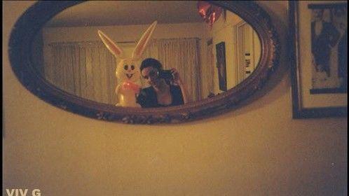 VIV G with plastic bunny. - 35mm Film 1990's