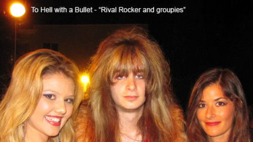 Rival Rocker and groupies, from To Hell with a Bullet.
