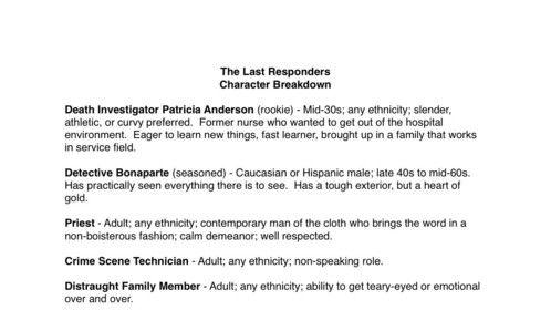 The Last Responders Character Breakdown