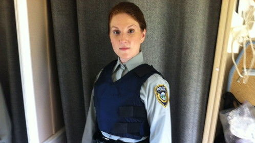 Me as a Cop on set for CHUM FM Commercial