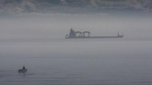 a foggy day on the Strait of Juan de Fuca