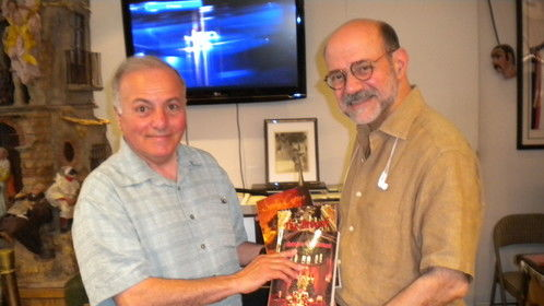 Writer Arthur Cola with Dr. Joseph Scelsa of Italian-American Museum, New York City