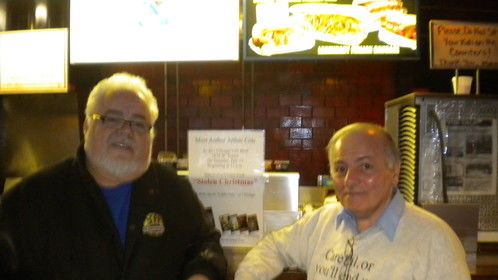 Chris Pacelli, owner of Al's Beef, and Arthur Cola in Chicago