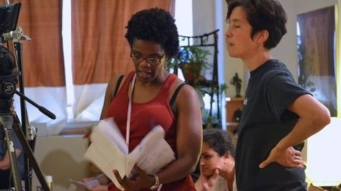 "Director Rosalyn Coleman Williams and DP Nara Garber from ""The Last Piece"" now in post."