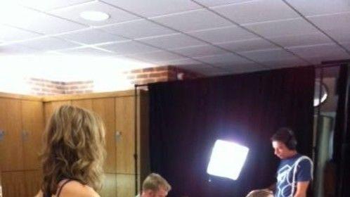 Backshot on set for David Lloyd commercial