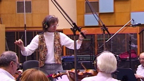 Conducting the Budapest Film Orchestra in the score to PURITAN
