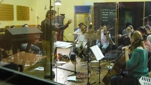 Conducting the RPO at Pinewood (Phoenix studios)
