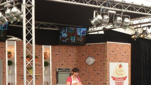 Live on stage at the Foodies festival, Hampton Court, London