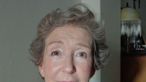 77 year old lady After make up