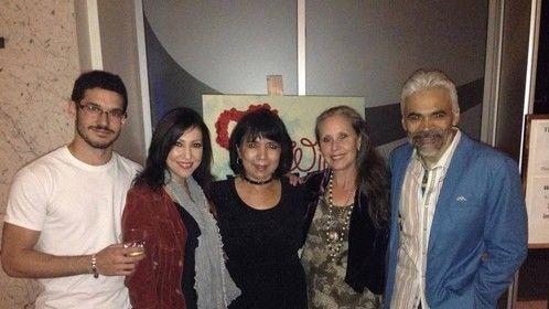Alberto De Diego, Crissy Guerrero, Lina Gallegos, Denise Blasor and Sal Lopez. Opening of WILD IN WICHITA at LATC