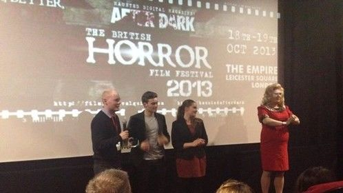 WOW Winning the 'British Horror Award' at the British Horror Film Festival 19th October 2013, Leicester Square, London